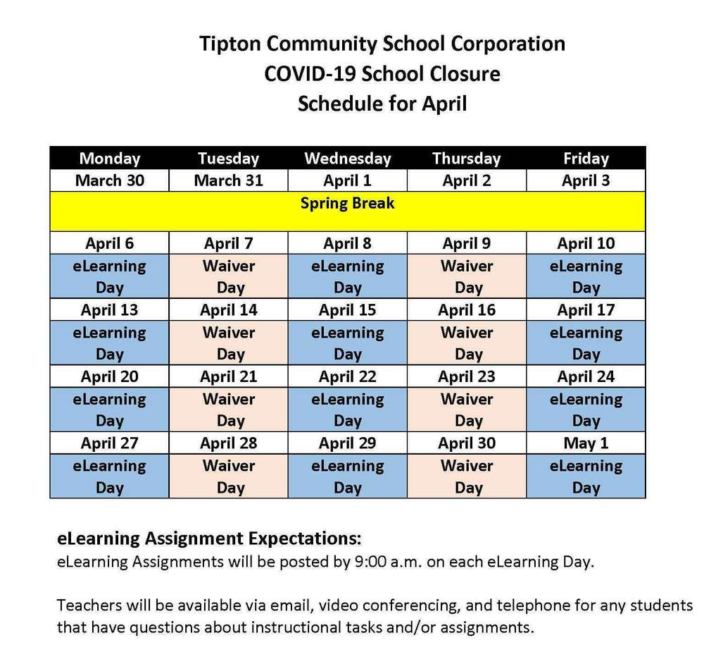 eLearning Schedule for April