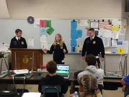 State FFA Officers Visit Tipton High School Agriculture DEpartment