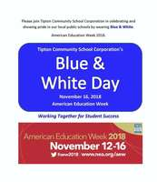 Nov 16 - Blue & White Day