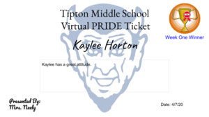 Virtual PRIDE Tickets #TiptonPRIDE