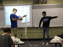 Finite Math Class Explores Möebius Strips