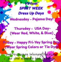 Virtual Spirit Weeks - Dress Up Days