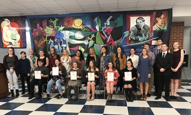 THS's National Art Honor Society Induction of new members.